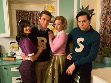 The cast of 'Riverdale' dress up in their character's vintage Archie Comics costumes