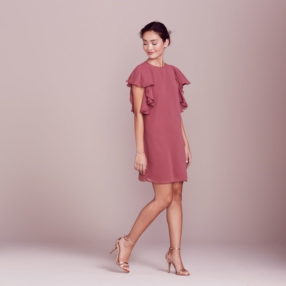 [LC Lauren Conrad Dress Up Shop Collection Ruffle Shift Dress, $40.80.](https://www.kohls.com/product/prd-2780371/lc-lauren-conrad-dress-up-shop-collection-rufle-shift-dress-womens.jsp?color=Roan%20Rouge&prdPV=4)