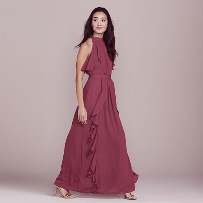 [LC Lauren Conrad Dress Up Shop Collection Solid Ruffle Maxi Dress, $67.50.](https://www.kohls.com/product/prd-2780758/lc-lauren-conrad-dress-up-shop-collection-solid-ruffle-maxi-dress-womens.jsp)