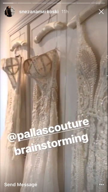 Snezana went wedding dress shopping at Pallas Couture.
