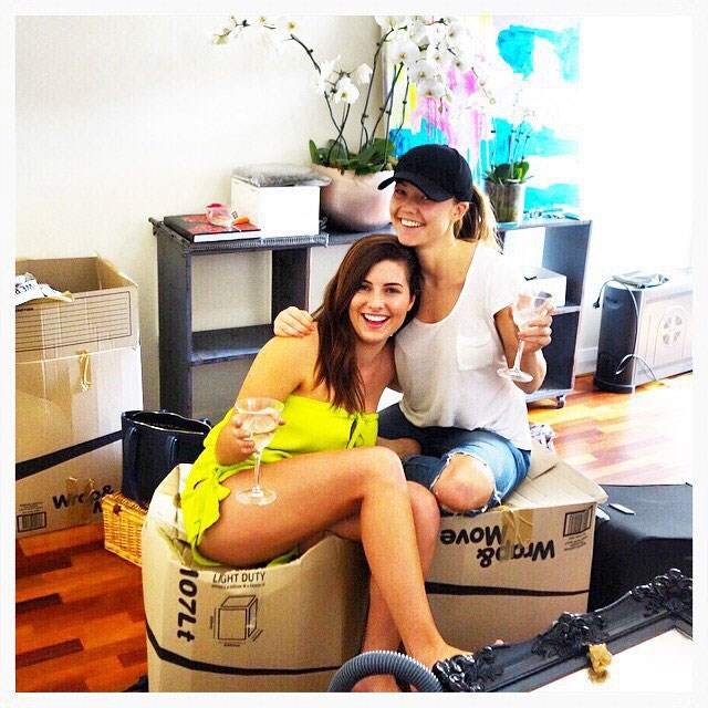 Sam Frost was roommates with Sarah Amey from the first season of *The Bachelor* starring Tim Robards. They don't live together anymore, but are still good mates!