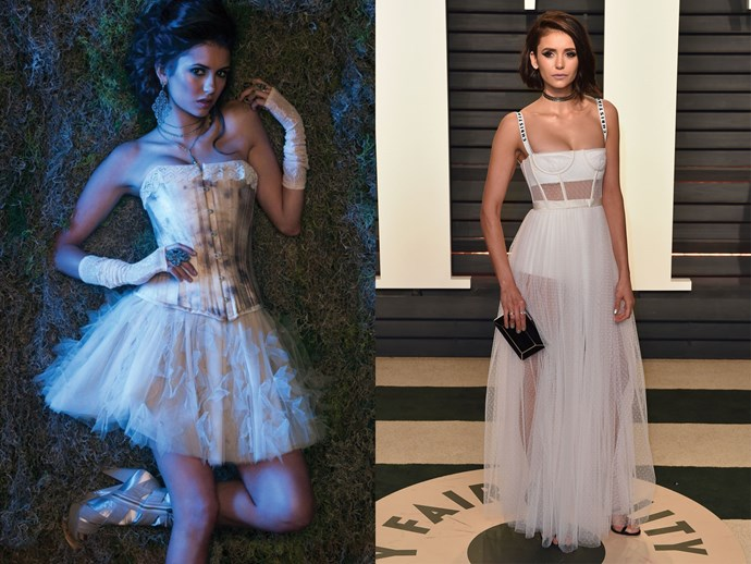 This Edwardian-inspired tulle/lingerie get up totally happened at this year's Oscars afterparty.