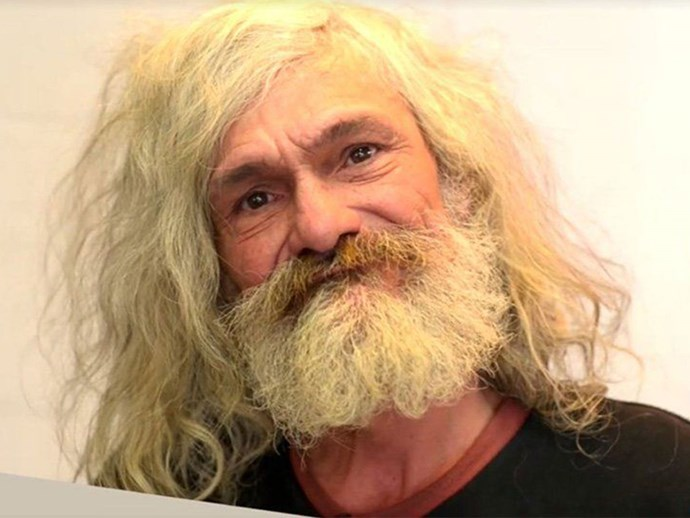 You need to see this homeless man's incredible makeover after 25 years on the streets