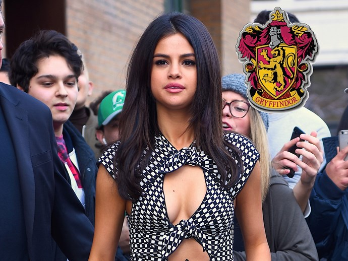 Even though we get Hufflepuff vibes, **Selena Gomez** has stated that she thinks she's a Gryffindor. We see that.