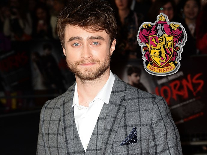 Of course Harry Potter himself, **Daniel Radcliffe**, is a Gryffindor!