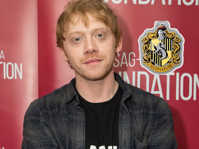 Poor Ron Weasley. **Rupert Grint** revealed that he actually got sorted into Hufflepuff! But he's not too happy about it.