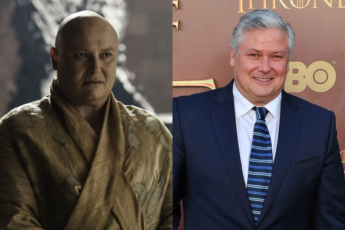 OMG! Conleth Hill, who plays Varys from *Game of Thrones* has hair in real life! (We don't know why we're so shocked.)