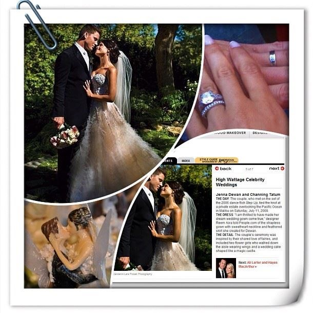 "**July 2009**  Channing and Jenna tie the knot in an outdoor fairytale themed wedding on a private estate in Malibu. Celebrity guests included Emmanuelle Chriqui as maid of honour and Haylie Duff as a bridesmaid.  Instagram: [@channingtatum]( https://www.instagram.com/channingtatum/?hl=en|target=""_blank"")"