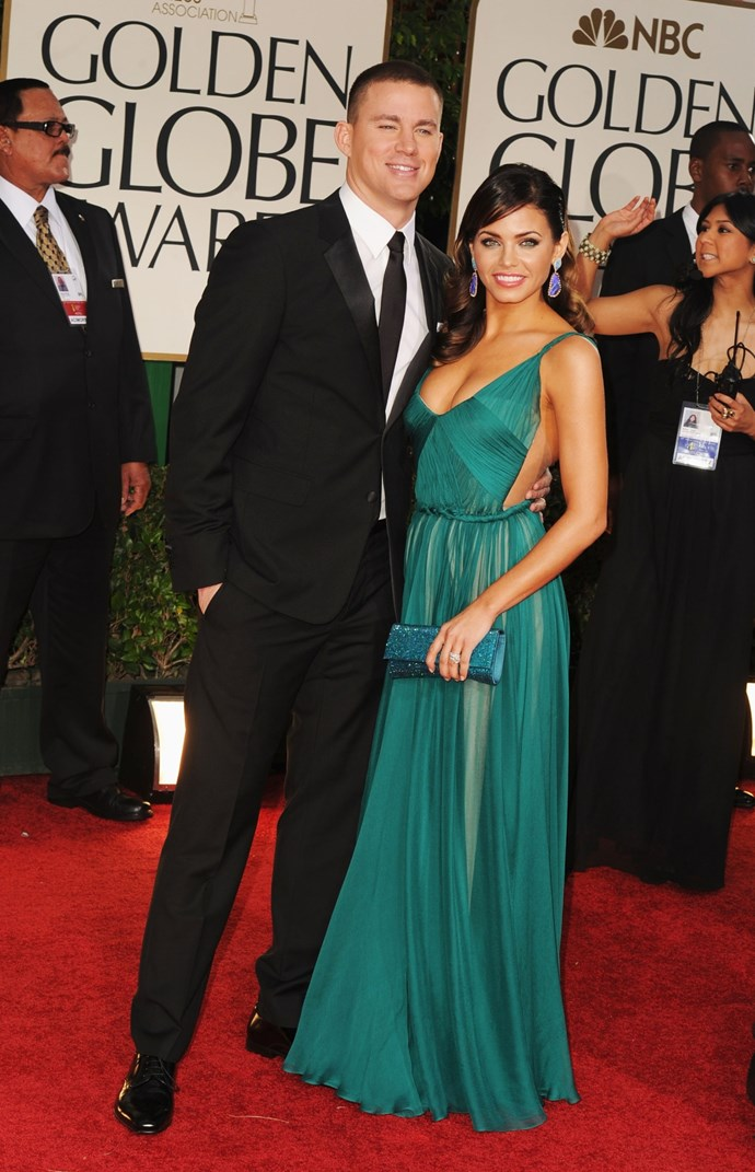 **January 2012**  At the Golden Globes looking bloody delightful.