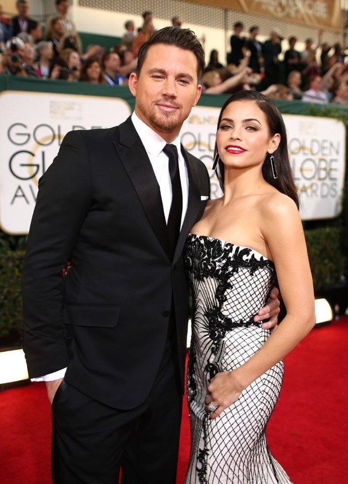 **January 2014**  It's the 71st Golden Globe awards, and Channing and Jenna are looking gorgeous on the red carpet as usual.