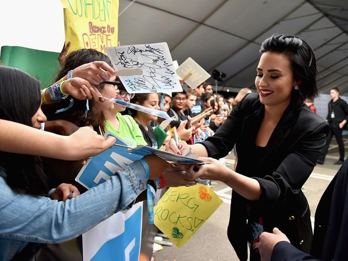 Demi Lovato and fans.