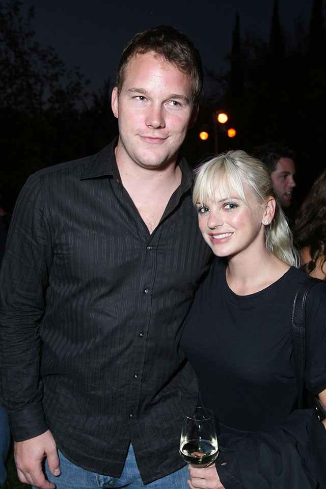 **Chris Pratt and Anna Faris**  At a Lollipop theatre event in September 2008.