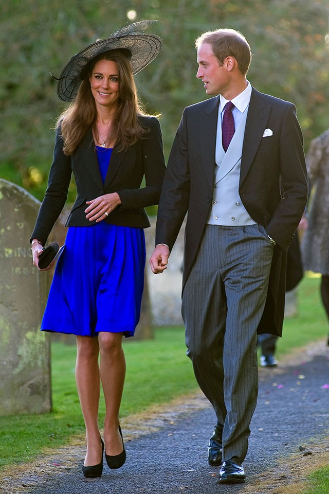 **Kate Middleton and Prince William**  At a friend's wedding in October 2010.