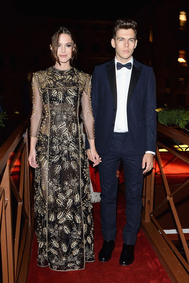 **Keira Knightley and James Righton**  At the Valentino Ball in September 2013.