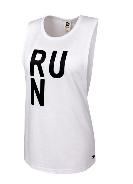 A cute all-rounder. Fashion Edit Muscle Tank, $49.99, [Running Bare](https://www.runningbare.com.au/productdisplay.aspx?pageid=195&categoryId=105&productId=14644&colour=WHITE)