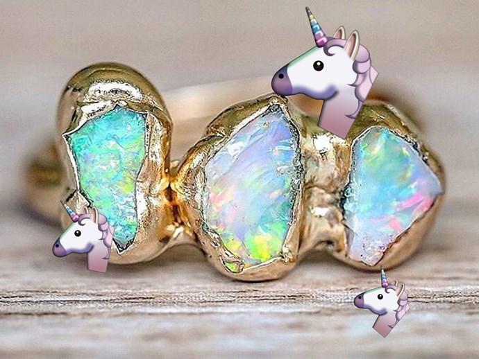 unicorn engagement rings