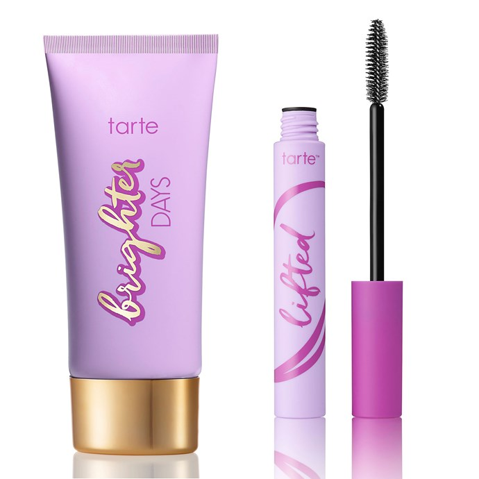 A highlighting moisturiser that won't clog your pores and a mascara that isn't phased by a sweat sesh = perfect gym ~glam~. Brighter Days Highlighting Moisturiser, $50 and Lifted Sweatproof Mascara, $32, both [Tarte](http://tartecosmetics.com/tarte-shop-athleisure)