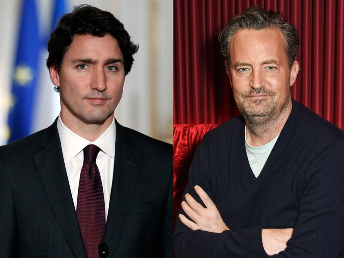 Justin Trudeau and Matthew Perry