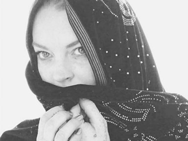 Lindsay Lohan wore a Burkini to the beach and the internet has a lot of feelings