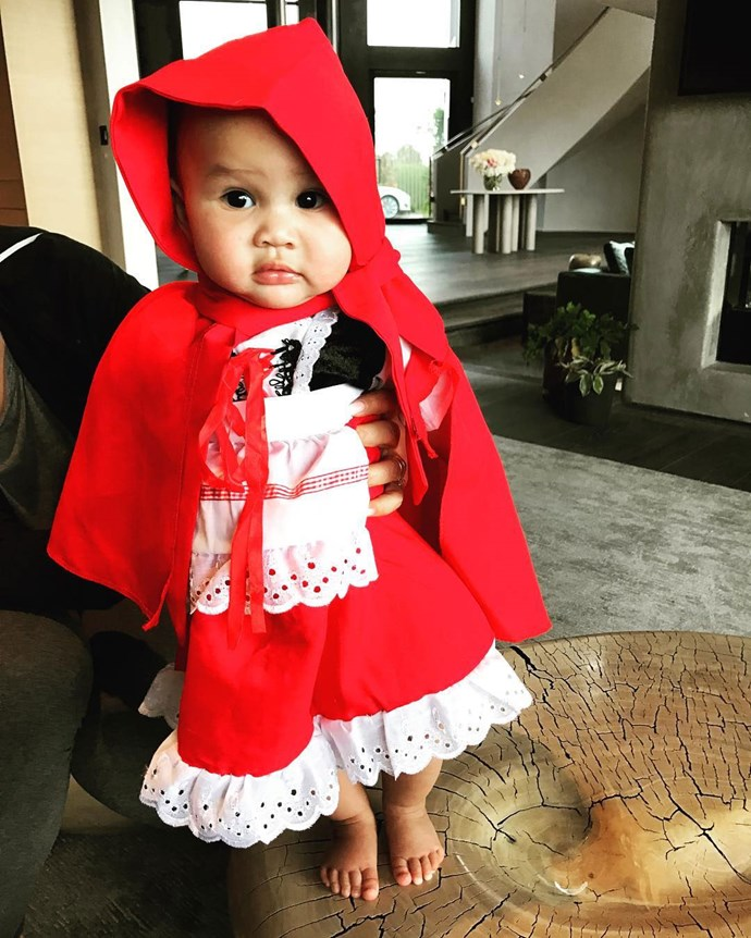 She wasn't feeling Little Red Riding Hood...