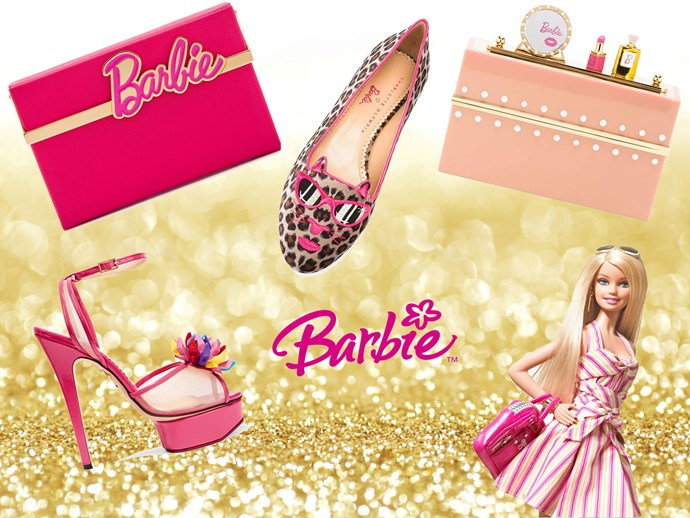 """Life-size [Barbie bling](https://www.net-a-porter.com/au/en/product/773740/Charlotte_Olympia/--barbie--vanina-textured-leather-box-clutch
