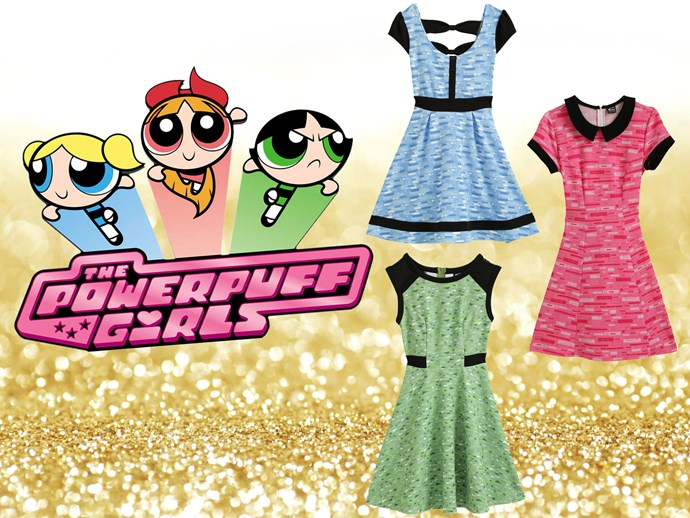 """Um, not even sure if these are for adults but we don't even GAF 'cause who could say no to a [Bubbles dress](http://www.hottopic.com/pop-culture/shop-by-license/the-powerpuff-girls/