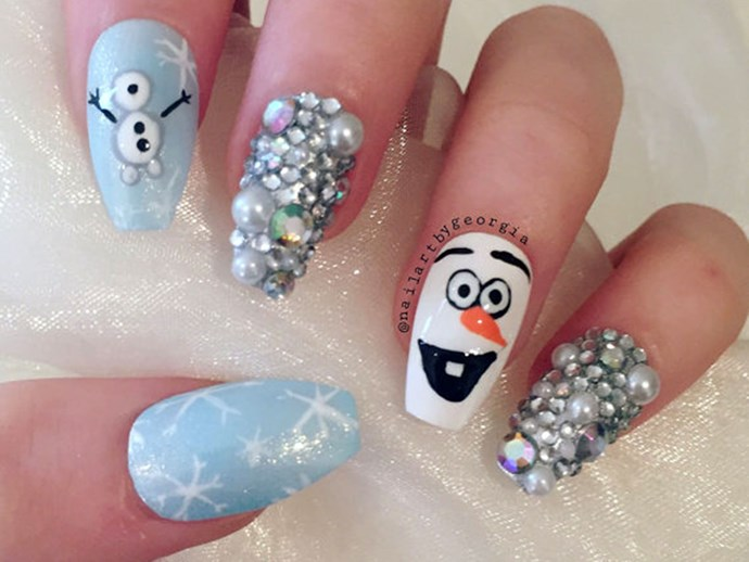"Olaf [press on nails](https://www.etsy.com/au/listing/261251505/olaf-frozen-disney-inspired-false-press?ga_order=most_relevant&ga_search_type=handmade&ga_view_type=gallery&ga_search_query=disney&ref=sr_gallery_24|target=""_blank""). Need we say more?"