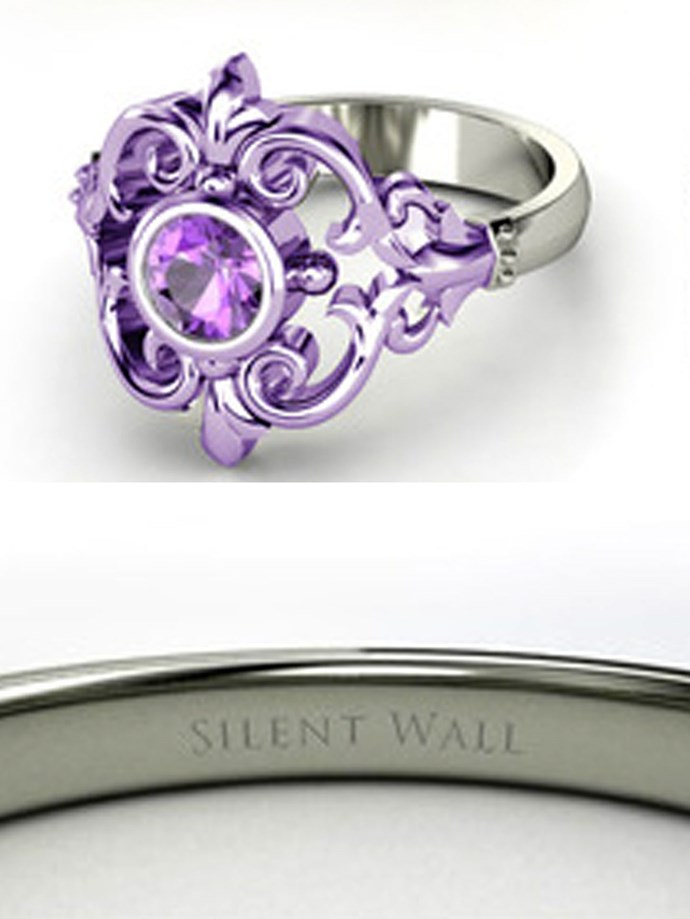 "**Sailor Moon: Sailor Saturn**   Customise at [Gemvara](https://www.gemvara.com/jewelry/winter-palace-ring/round-amethyst-sterling-silver-ring/35p4|target=""_blank""