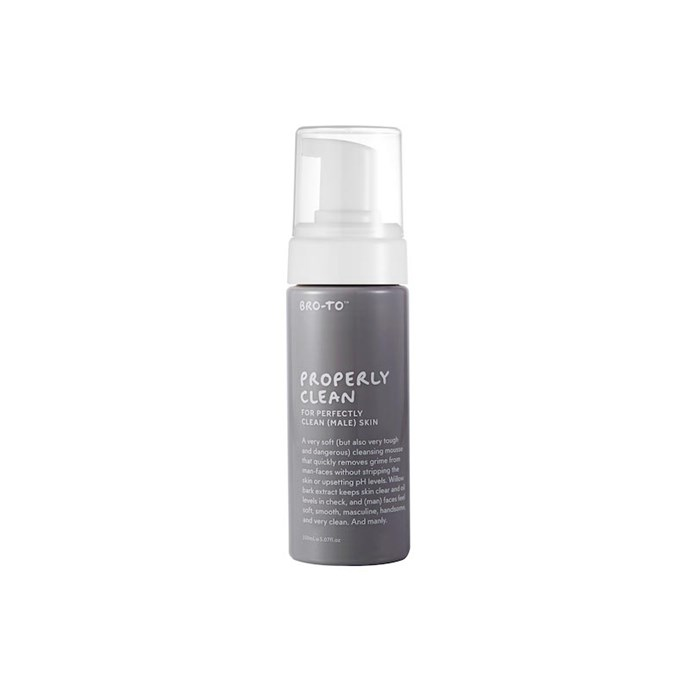 """**The cleanser**  """"I noticed a change in my skin after using this. Blackheads were less noticeable and my face just felt cleaner – it has a bit of a tightening effect I think.  I usually just use my body wash as face wash, but this feels a lot nicer so I'd probably buy it."""" — Luke, 29  Bro-To Properly Clean Cleanser, $31, at [Go To Skincare](http://www.gotoskincare.com/natural-skincare/broto-properly-clean