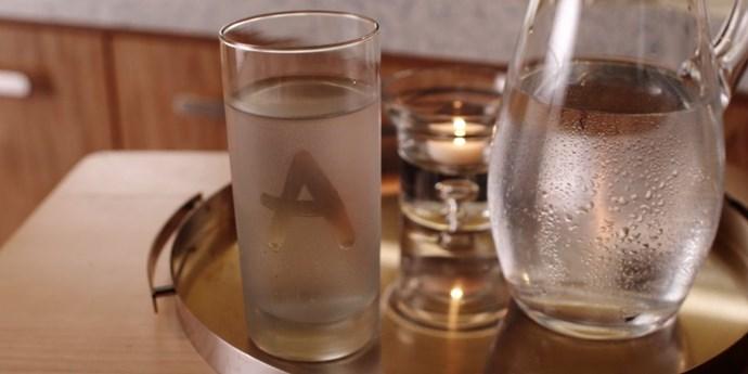 **Massage water glass**  A, like Santa, is everywhere.