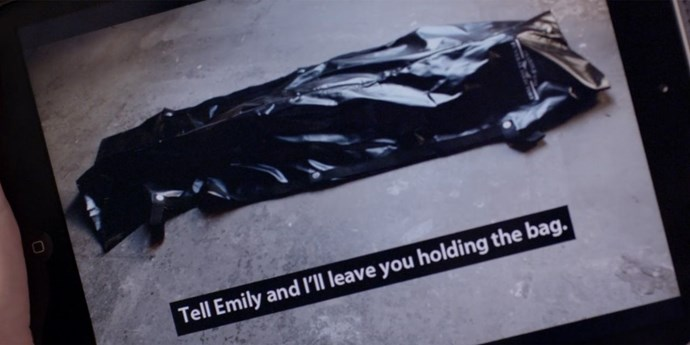 **Body bag time**  Tell me again why no one called the cops.