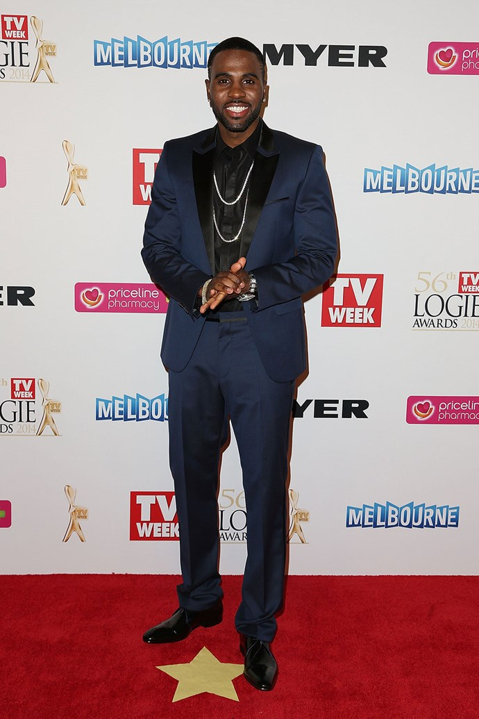 Oh look, it's **Jason Derulo**! He was at the Logies in 2014.