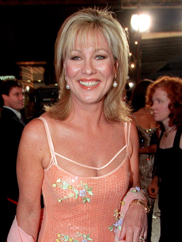 **Bangs**  Kerri-Anne, you are a god damn queen. That peach blush and lip combo is perfect on you.  *Kerri-Anne Kennerley, 2000.*