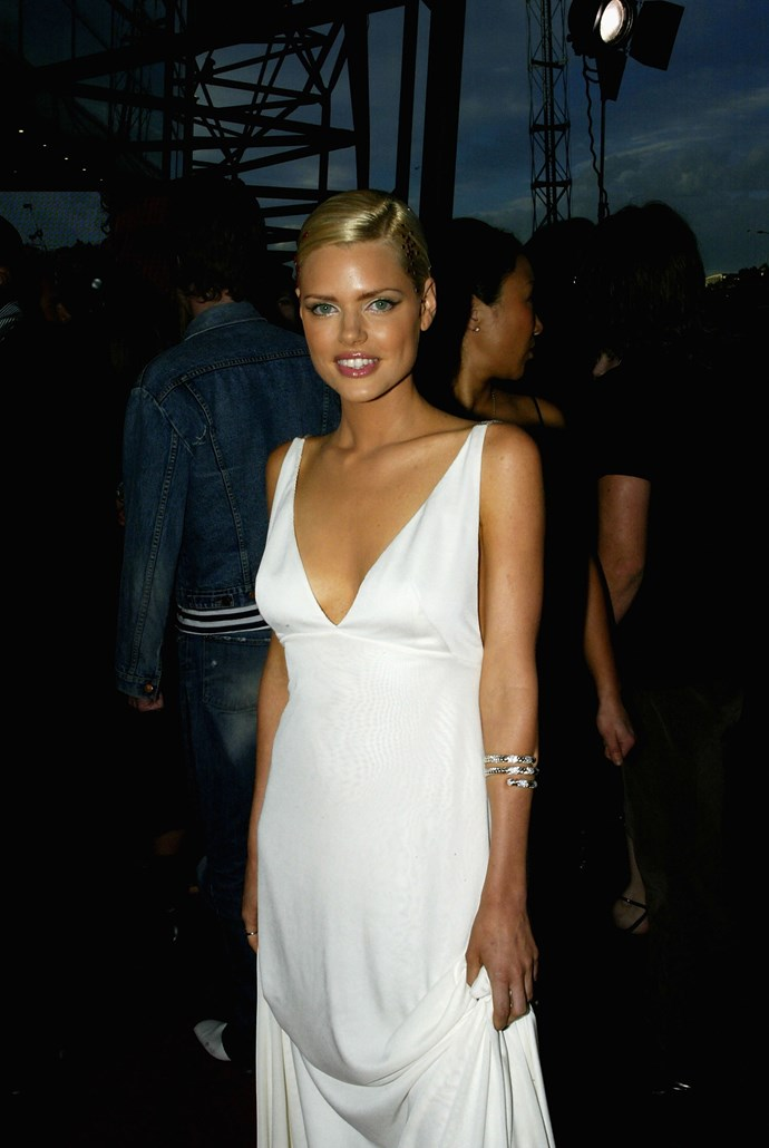 Nailing winged liner at the 2003 Aria awards.