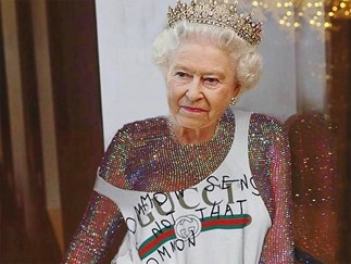 Rihanna Queen Elizabeth photoshop.