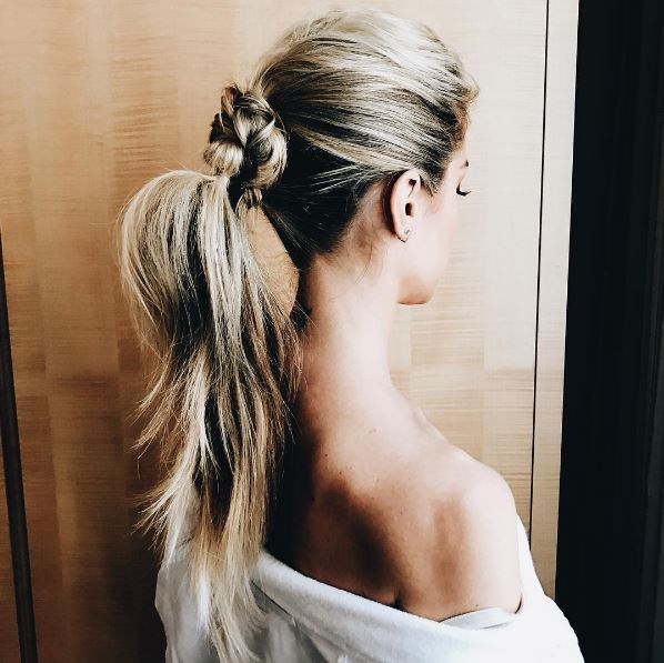 "**Kristin Cavallari**   Former *The Hills* star Kristin Cavallari posted this picture of her Met Gala hairstyle to Instagram, with the caption: ""#MetGala hair on point thanks to @owengould !! I'll be on E! tonight talk all things fashion tonight."""