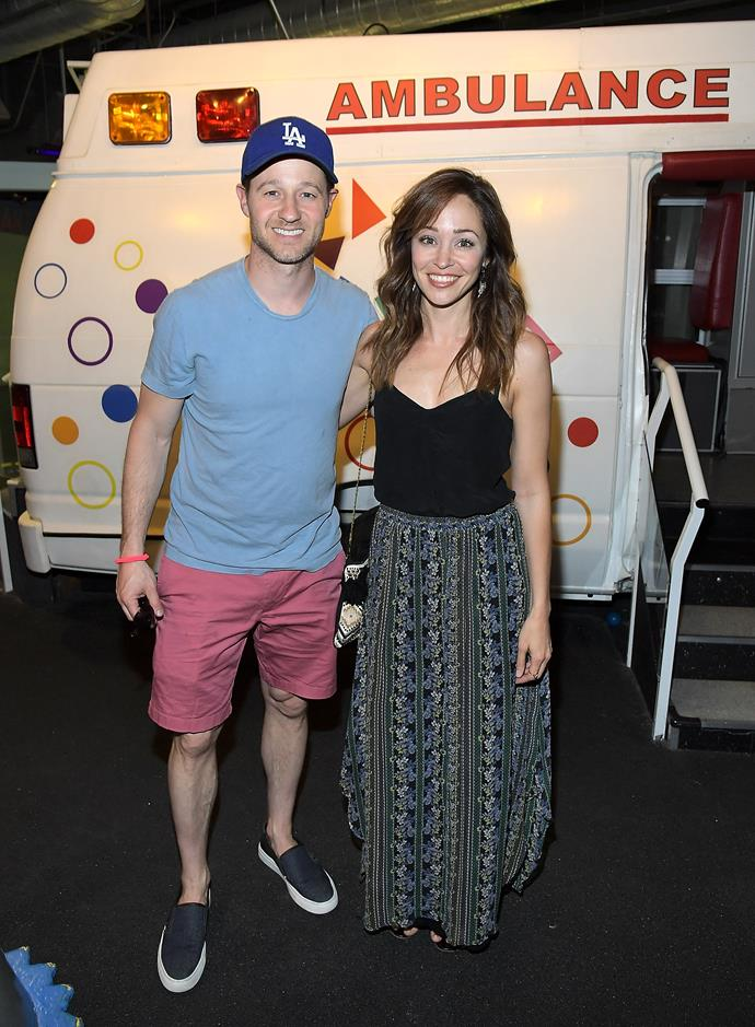 **The O.C.**  Ben McKenzie and Autumn Reeser, AKA Ryan and Taylor from *The O.C.*, had a mini reunion at the Zimmer Children's Museum 'We All Play' Annual FUNraiser in Los Angeles this week. Still cute.