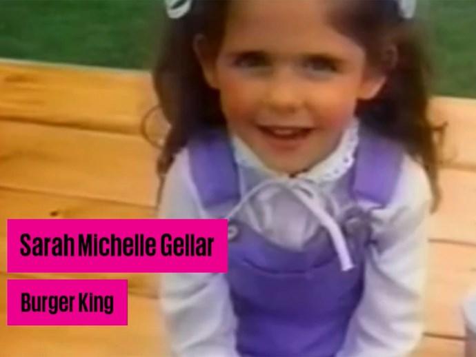 Sarah Michelle Gellar Burger King ad