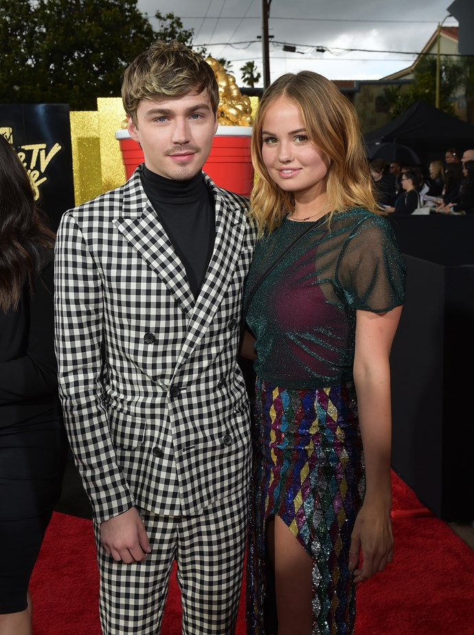 Miles Heizer and Debby Ryan