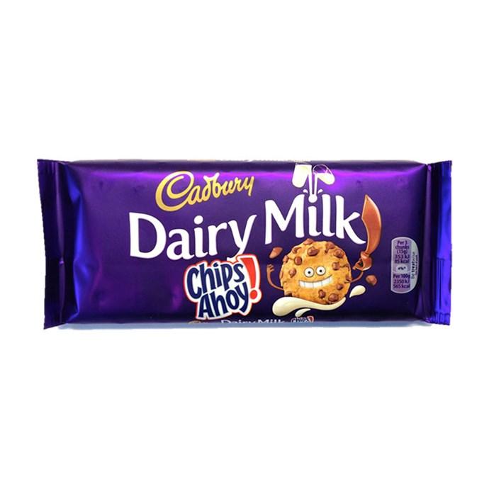 **Cadbury Dairy Milk Chips Ahoy!** <br><br> It's choc chip cookie dough in milk chocolate? YES PLOISE.