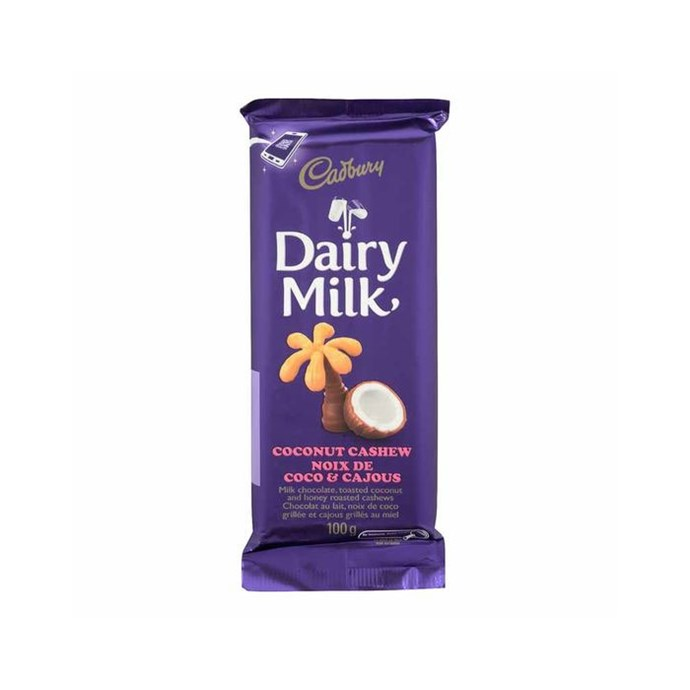 **Cadbury Dairy Milk Coconut Cashew** <br><br> Sounds like a tropical holiday in a chocolate bar.