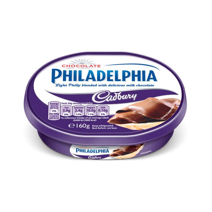 **Philadelphia Cadbury** <br><br> Is this amazing or weird? IDK. Could be like Nutella.
