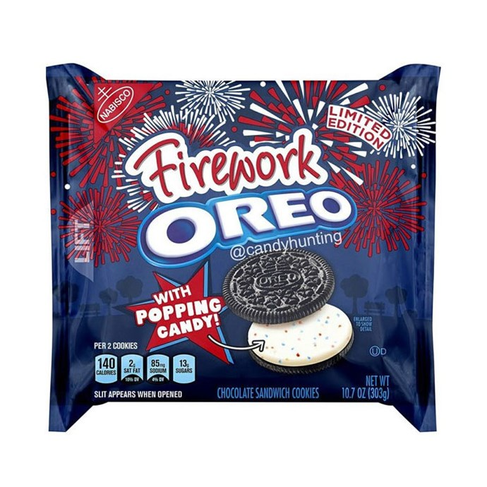 **Firework Oreo** <br><br> Popping candy — we're sold.