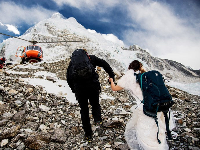 Wedding on Mt Everest