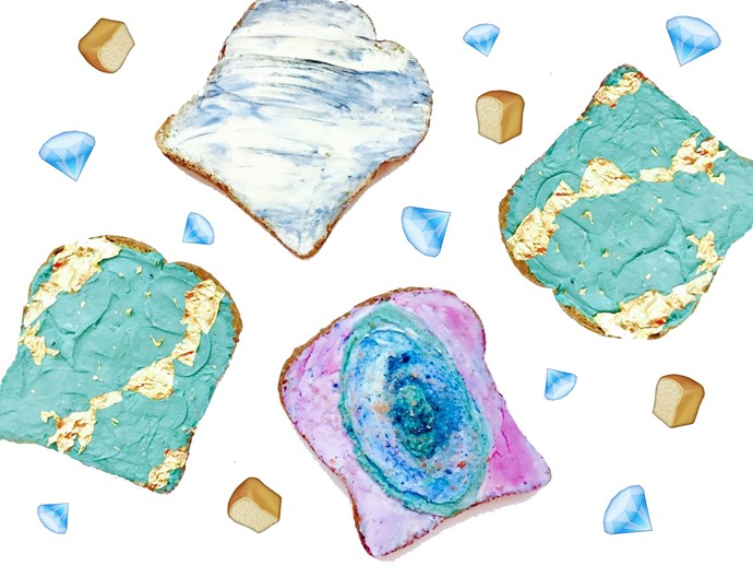 Gemstone toast is now a trend