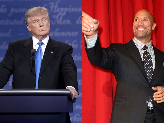Donald Trump and Dwayne The Rock Johnson