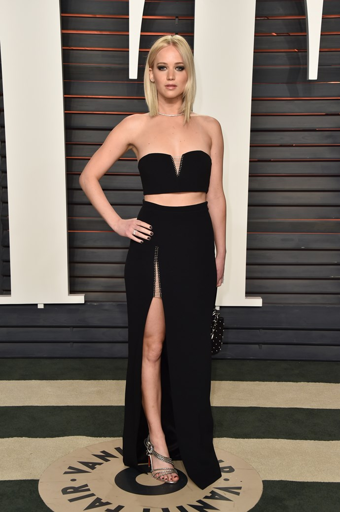 """I exercise! But I don't diet. You can't work when you're hungry, you know?"" — **Jennifer Lawrence**  The fantastically blunt Oscar winner has professed her love of fries, along with her refusal to give them or any other food up."