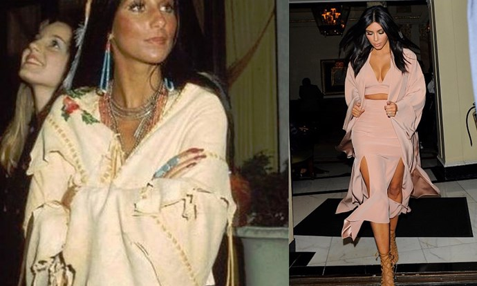 These ladies know how to rock a cosy beige cover up.