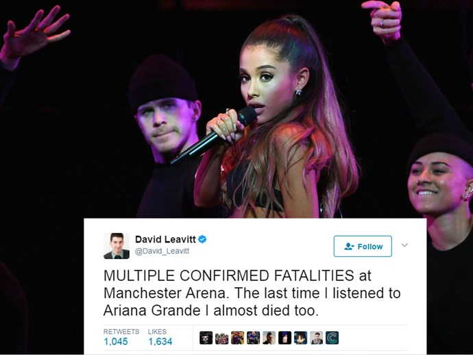 ariana grande explosions tragedy twitter reactions