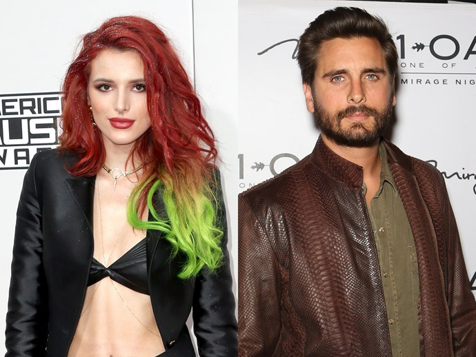 Bella Thorne and Scott Disick.